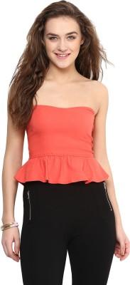 Uptownie Lite Party Sleeveless Solid Women's Orange Top