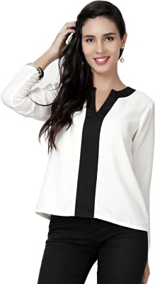 Eavan Casual Full Sleeve Solid Women White Top at flipkart