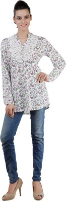 Pret a Porter Casual Full Sleeve Floral Print Women's Multicolor Top