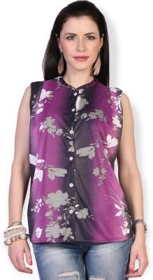 Ten on Ten Casual Sleeveless Floral Print Women's Multicolor Top
