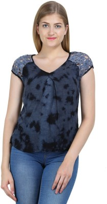 Bainy Casual Short Sleeve Printed Women,s Multicolor Top
