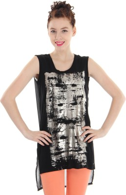 Pepe Jeans Casual Sleeveless Printed Women's Black Top