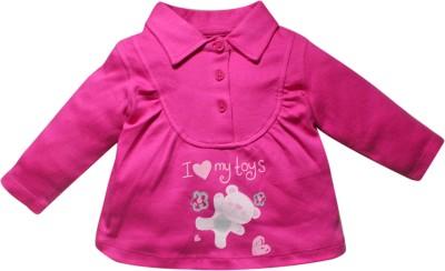 FS Mini Klub Casual Full Sleeve Solid Baby Girl's Purple Top