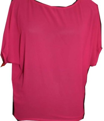 SAP Casual Short Sleeve Solid Girl's Red Top