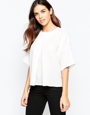 Maisha Casual Kimono Sleeve Solid Women,s White Top