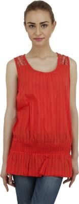 Hapuka Casual Sleeveless Solid Women's Red Top