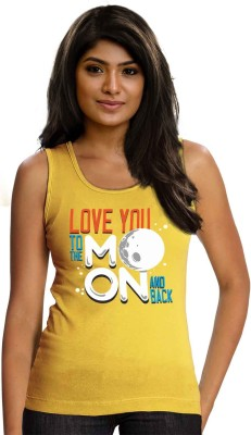 Wear Your Opinion Casual Sleeveless Printed Women,s Yellow Top