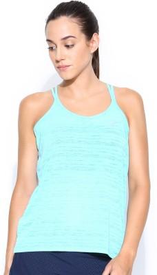 Nike Sports Sleeveless Printed Women's Blue Top