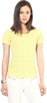The Vanca Formal Full Sleeve Self Design Women's Yellow Top at flipkart