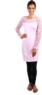 Trendy Time Party Full Sleeve Printed Women's Pink Top