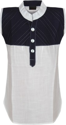 Jazzup Casual Sleeveless Solid Girl's White, Black Top