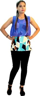 Shonaa Party, Festive, Casual, Beach Wear Sleeveless Printed Women's Multicolor Top