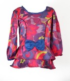 Marshmallow Top For Girl's Party Satin T...