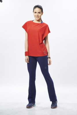 Restless Sports, Casual Short Sleeve Solid Women's Red Top