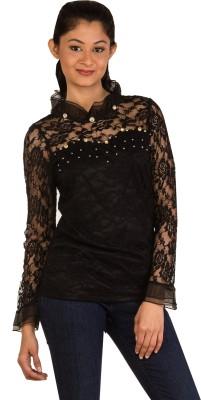 Modo Vivendi Casual Full Sleeve Solid Women's Black Top