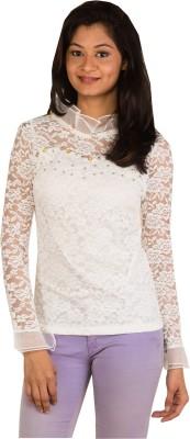 Modo Vivendi Casual Full Sleeve Floral Print Women's White Top