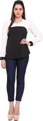 Maisha Casual Full Sleeve Solid Women,s Black Top