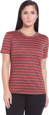 Globus Casual Short Sleeve Striped Women's Multicolor Top