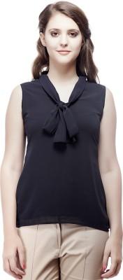 ORIANNE Casual Sleeveless Solid Women's Dark Blue Top