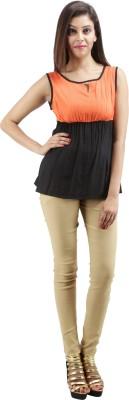 Sunshine Casual Sleeveless Solid Women's Black Top