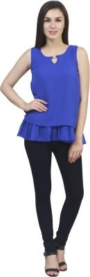 kellan Casual Sleeveless Solid Women's Blue Top