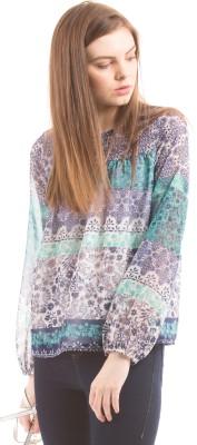 Prym Casual Full Sleeve Printed Women's Blue Top