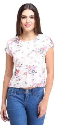 Amirich Casual Short Sleeve Floral Print Women's Multicolor Top