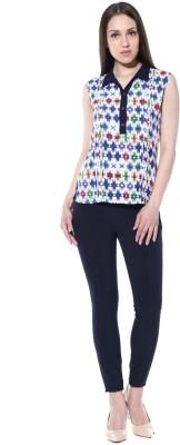pinaki perryhills Casual Sleeveless Printed Girl's Multicolor Top