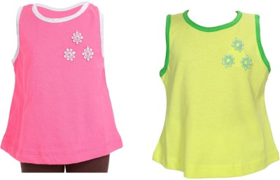 Bio Kid Casual Sleeveless Floral Print Girl's Multicolor Top