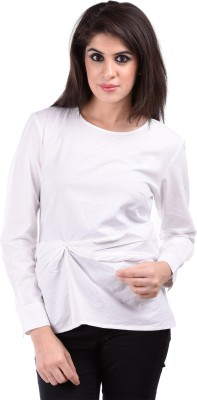 Aarr Casual Full Sleeve Solid Women's White Top