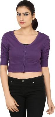 Haniya Casual 3/4 Sleeve Solid Women's Purple Top