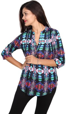 Vanya Enterprises Casual 3/4 Sleeve Printed Women's Multicolor Top