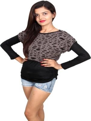 Vanya Enterprises Casual Full Sleeve Solid Women's Black, Grey Top
