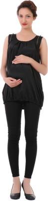James Scot Formal Sleeveless Solid Women's Black Top