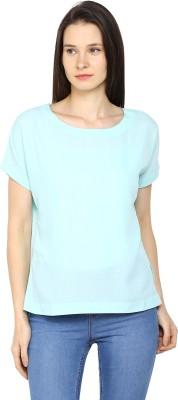 Arrow Casual Short Sleeve Printed Womens Blue Top