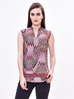 Envy Me Casual Short Sleeve Geometric Print Women's Multicolor Top at flipkart