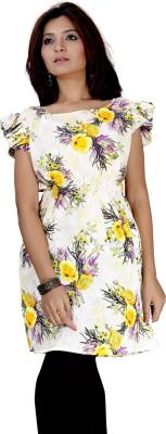 Kurtiz Casual Short Sleeve Floral Print Women's Multicolor Top