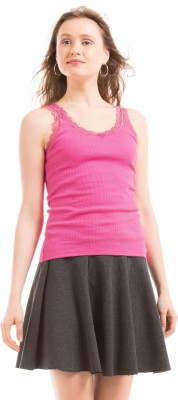 Prym Casual Sleeveless Solid Women's Pink Top