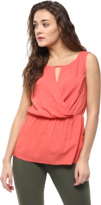 Avirate Casual Sleeveless Solid Women's Pink Top