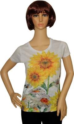Sarva Party, Casual, Formal Short Sleeve Printed Women's Multicolor Top