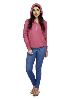 True Fashion Casual Full Sleeve Solid Women's Pink Top