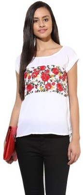 La Firangi Casual Short Sleeve Solid Women's White Top
