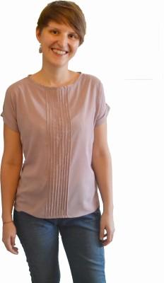 Onemm Casual Short Sleeve Solid Women's Pink Top