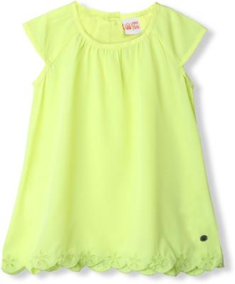 FS Mini Klub Casual Short Sleeve Woven Girl's Green Top