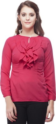 ORIANNE Casual Full Sleeve Solid Women's Pink Top