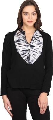 Nordic Bazaar Casual Full Sleeve Solid Women's Black Top