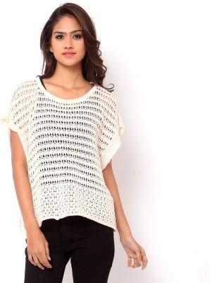 La Nina Party Cap sleeve Woven Women's White Top