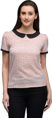 Vemero Party Short Sleeve Printed Women's Pink Top