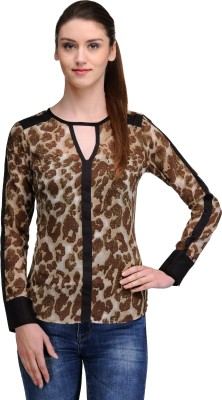 TheGudLook Casual Full Sleeve Printed Women's Multicolor Top