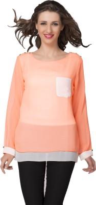 IshinDesignerStudio Casual Full Sleeve Solid Women's Pink Top